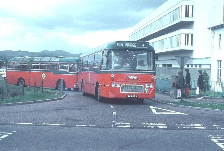 Roybridge Bus Outside Lochaber High School 1970 ?