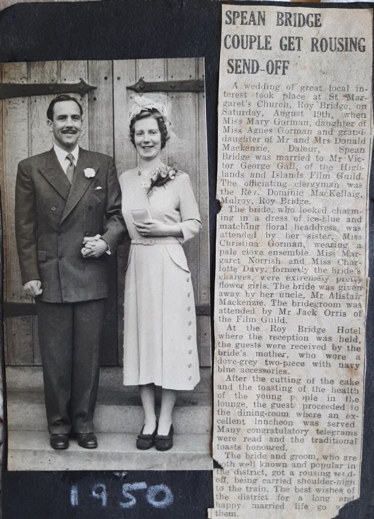 Wedding of Victor and Mary Gall - 1950