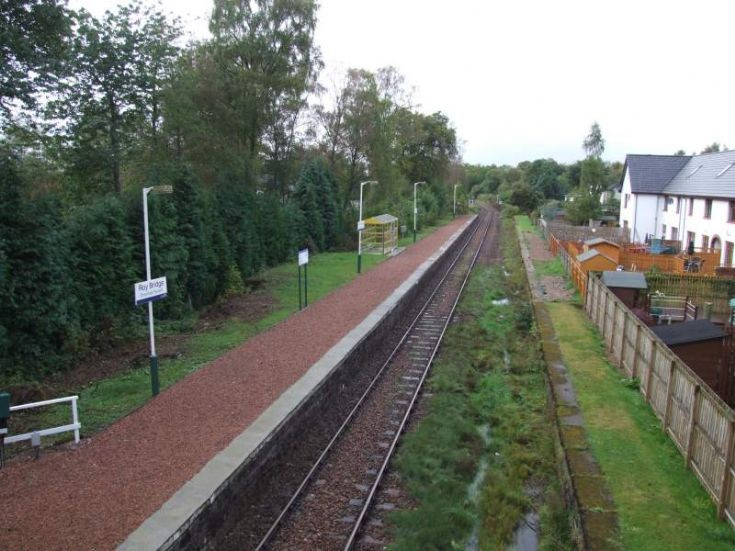 Railway from Bridge with Siding Houses on Right