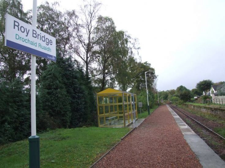 Railway Shelter & Sign
