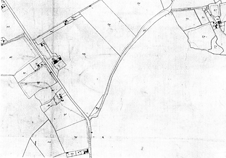 Tithe map of 1842 showing Handcross House