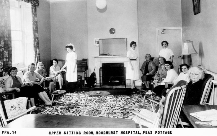 Woodhurst Hospital upper sitting room