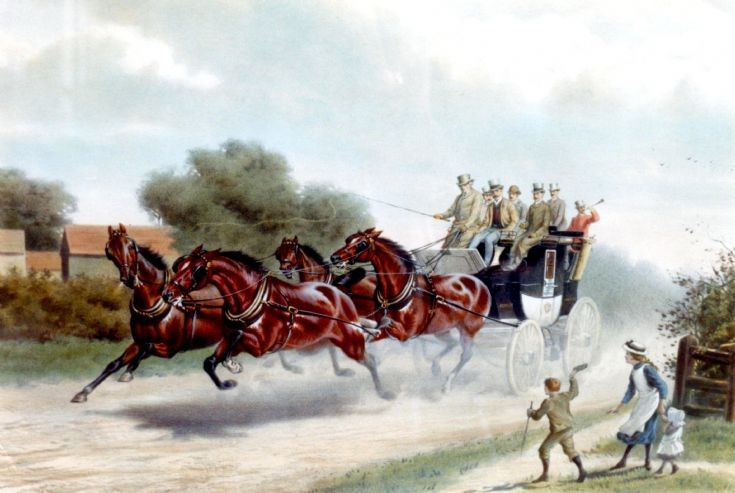 Stagecoach race for wager