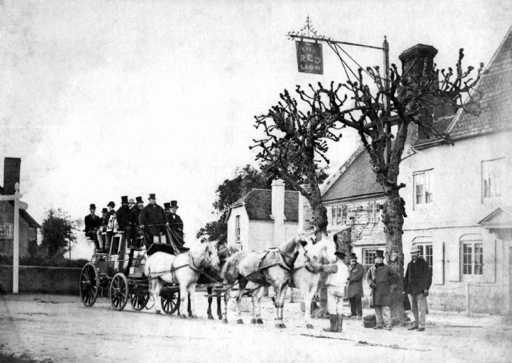 Stagecoach from Brighton at Red Lion, Handcross