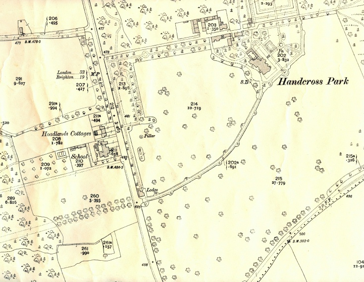 Map showing the second Handcross Park