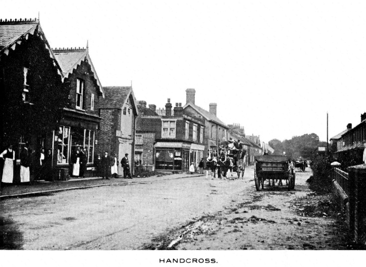 Stagecoach in High Street, Handcross