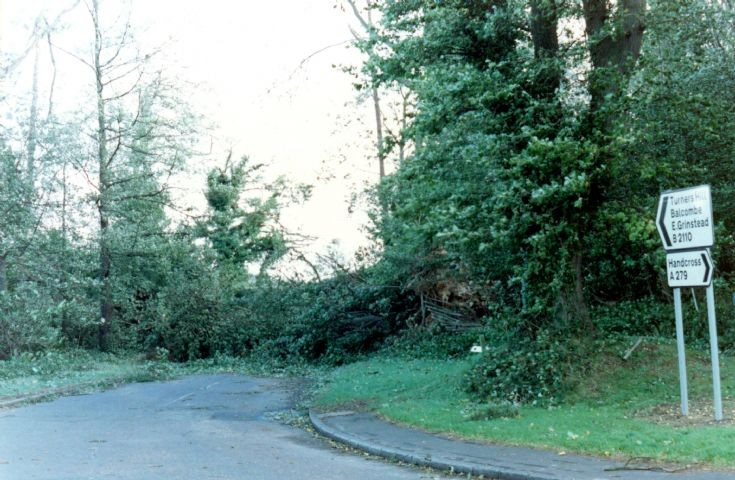 Great Storm in Balcombe Lane, Handcross