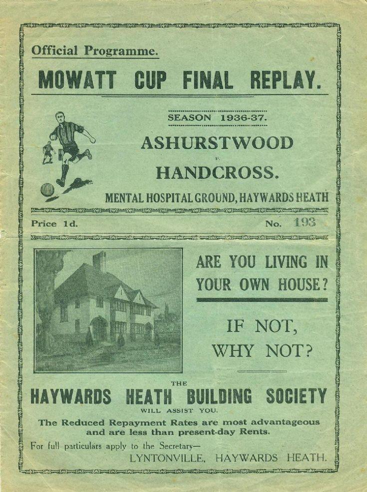 Programme of Mowatt Cup final replay
