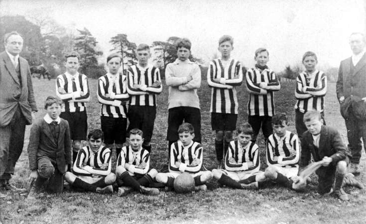 Handcross School football team