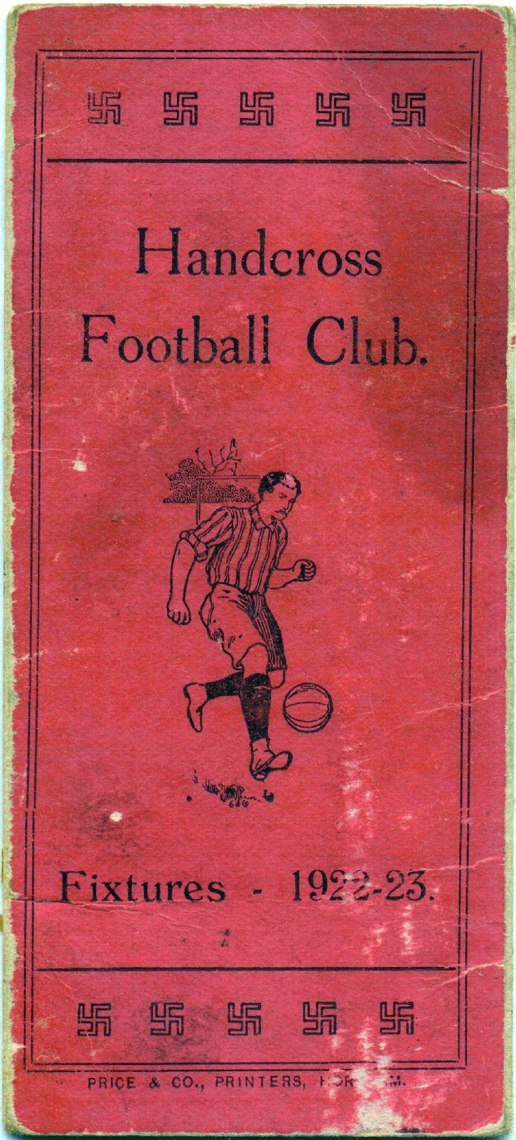 Handcross football fixtures card 1922/23