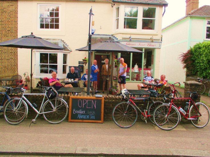 Cyclists at Sabrina's Sweet Things