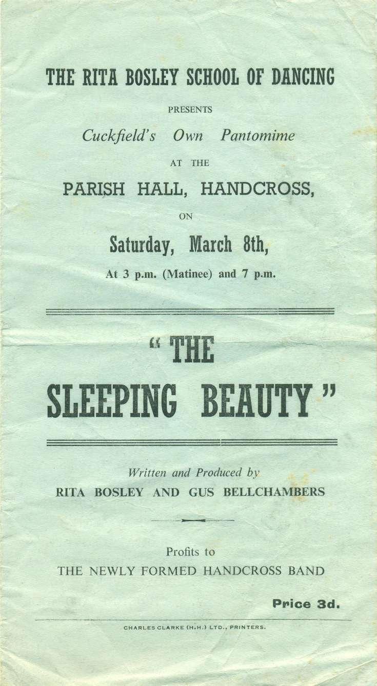 Sleeping Beauty pantomime in Handcross