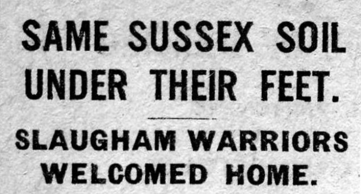 Slaugham warriors welcomed home