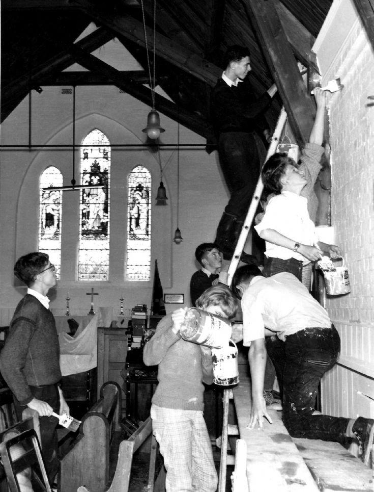 Painting All Saints Church, Handcross