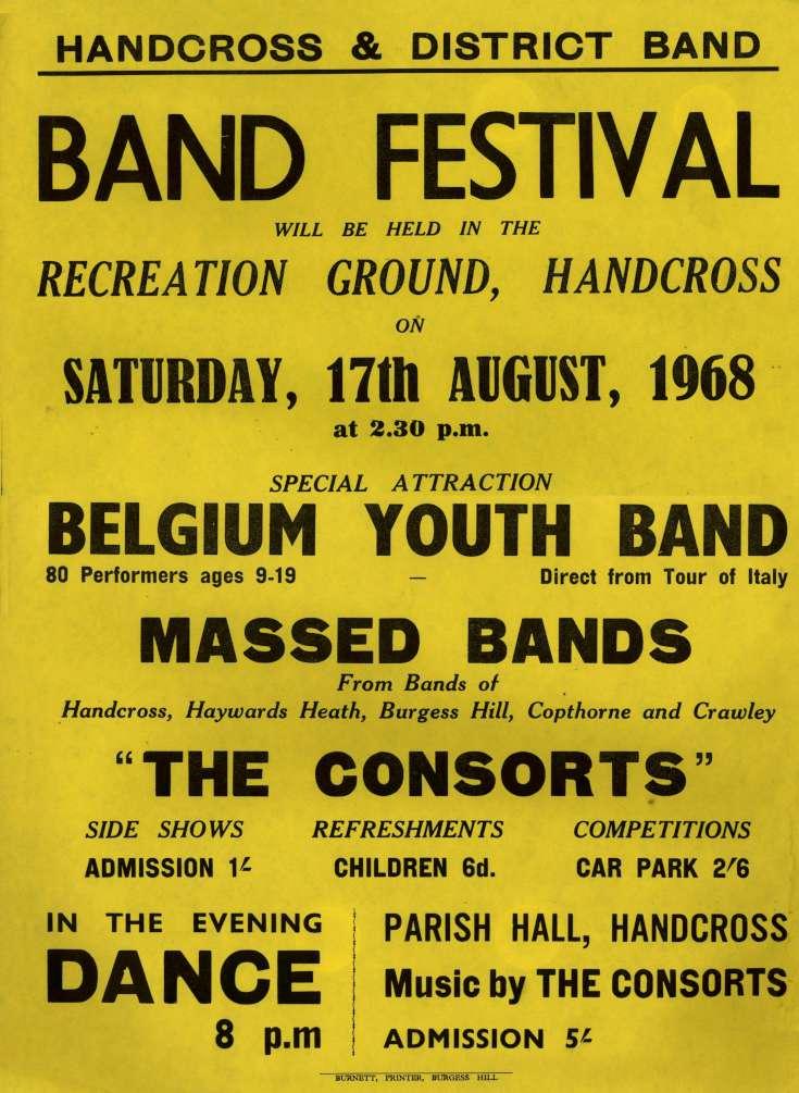 Handcross Band Festival 1968