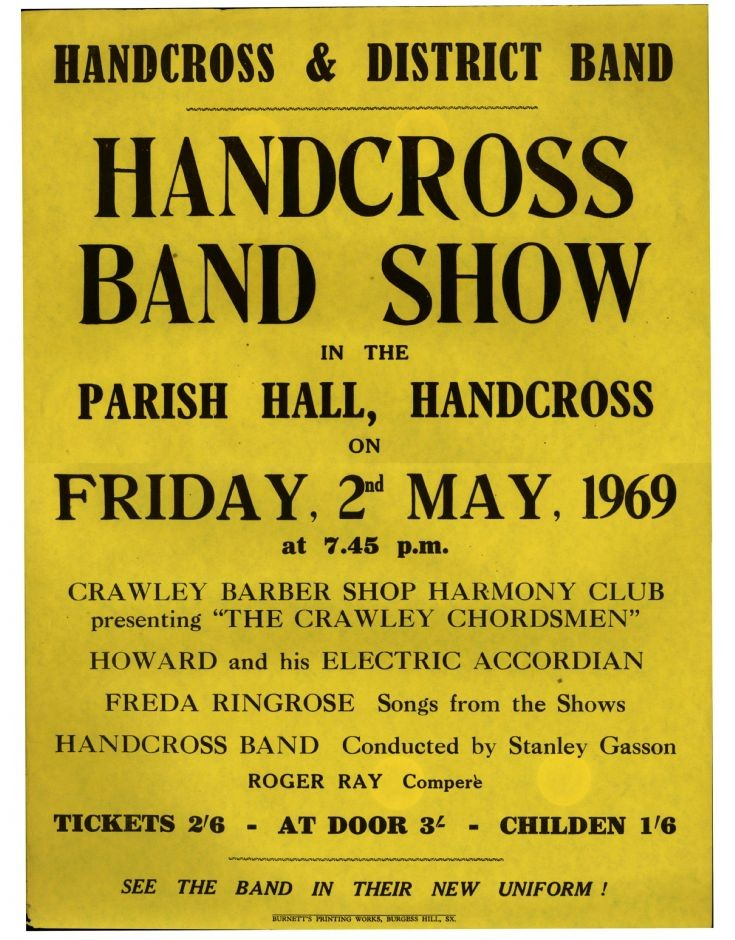 Handcross Band concert 1969