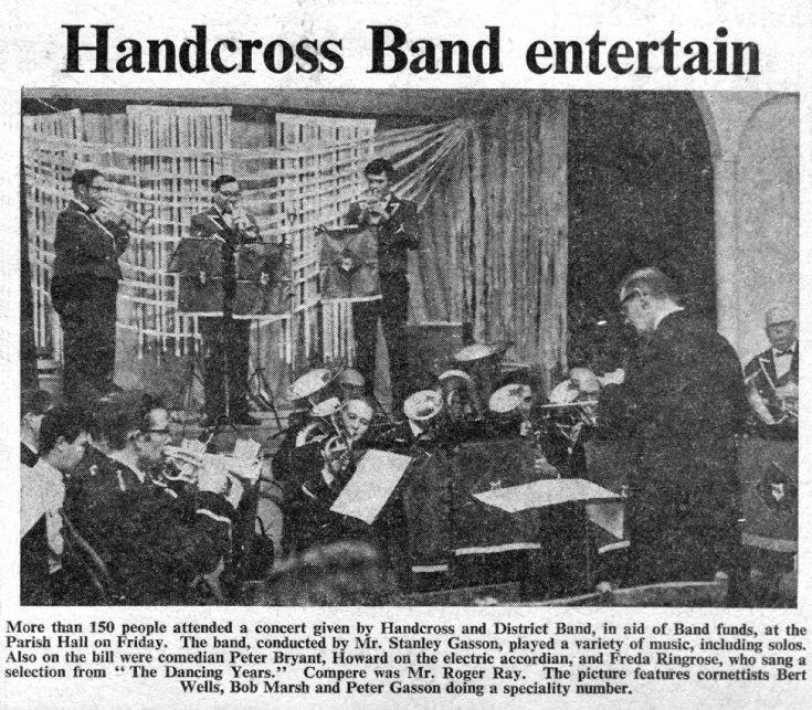 Handcross Band concert 1969