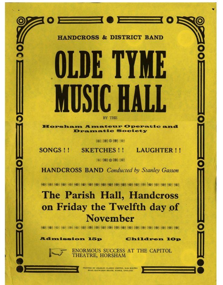 Handcross Band Olde Tyme Music Hall