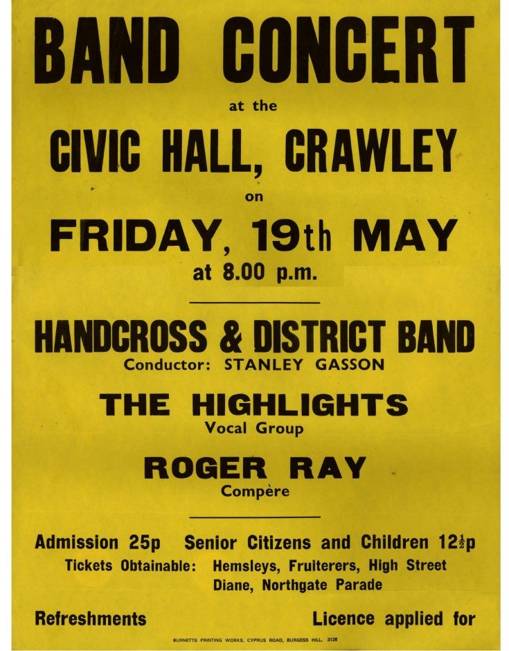 Handcross Band concert in Crawley