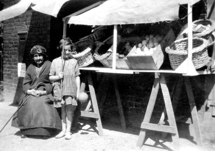 Fruit seller at Pease Pottage