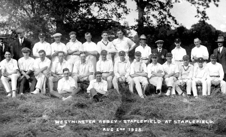 Staplefield cricket versus Westminster Abbey