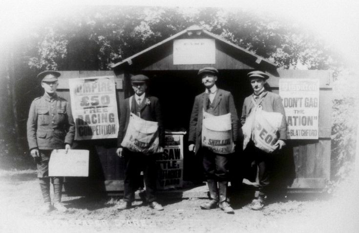Pease Pottage camp newspaper store