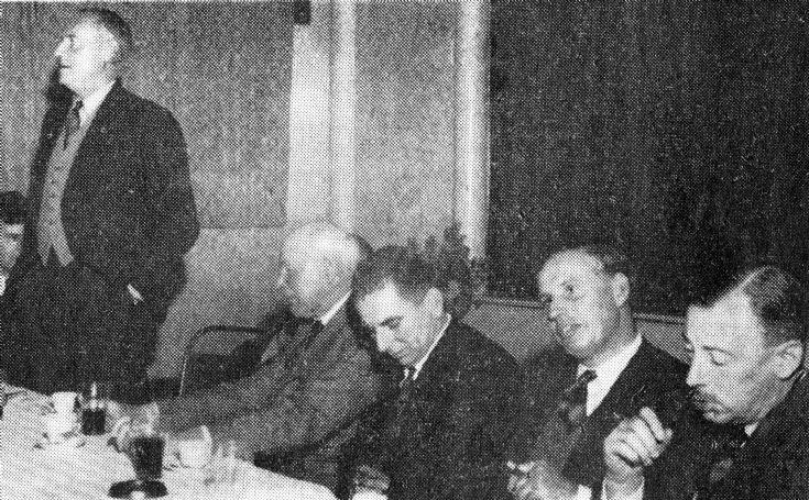 A speech at the annual British Legion dinner