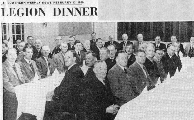 Handcross British Legion dinner 1959