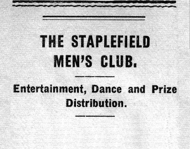Staplefield Men's Club social event