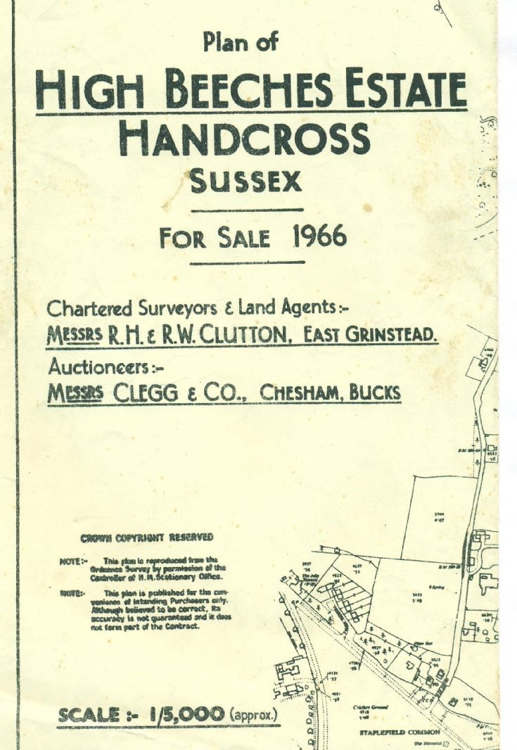 High Beeches auction map 1966