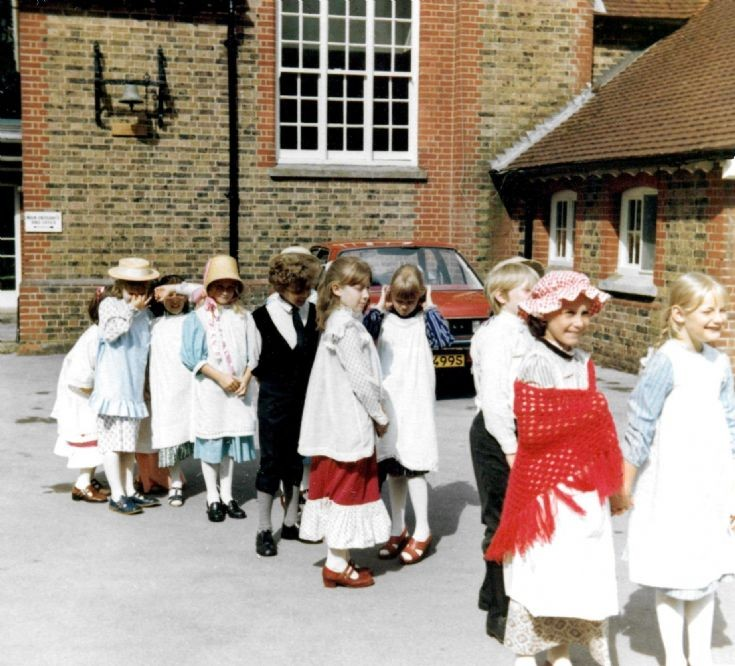 Handcross school centenary procession to church