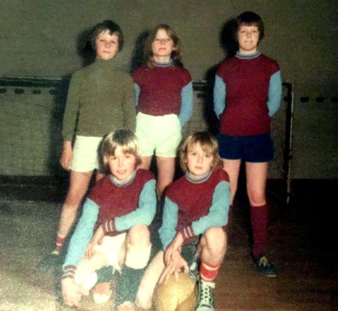 Handcross Primary School five-a-side football team