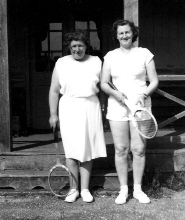 Two tennis ladies at Handcross