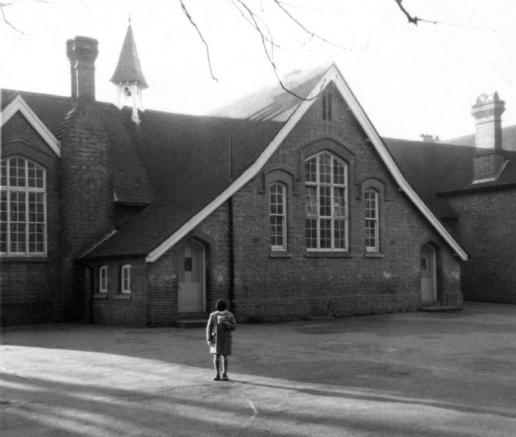 Handcross School with one studious boy