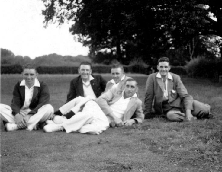 Pease Pottage cricketers at rest