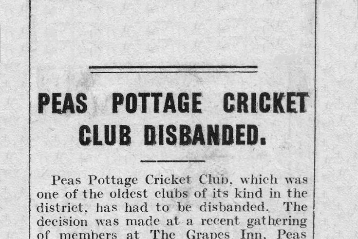 The end of Pease Pottage cricket club