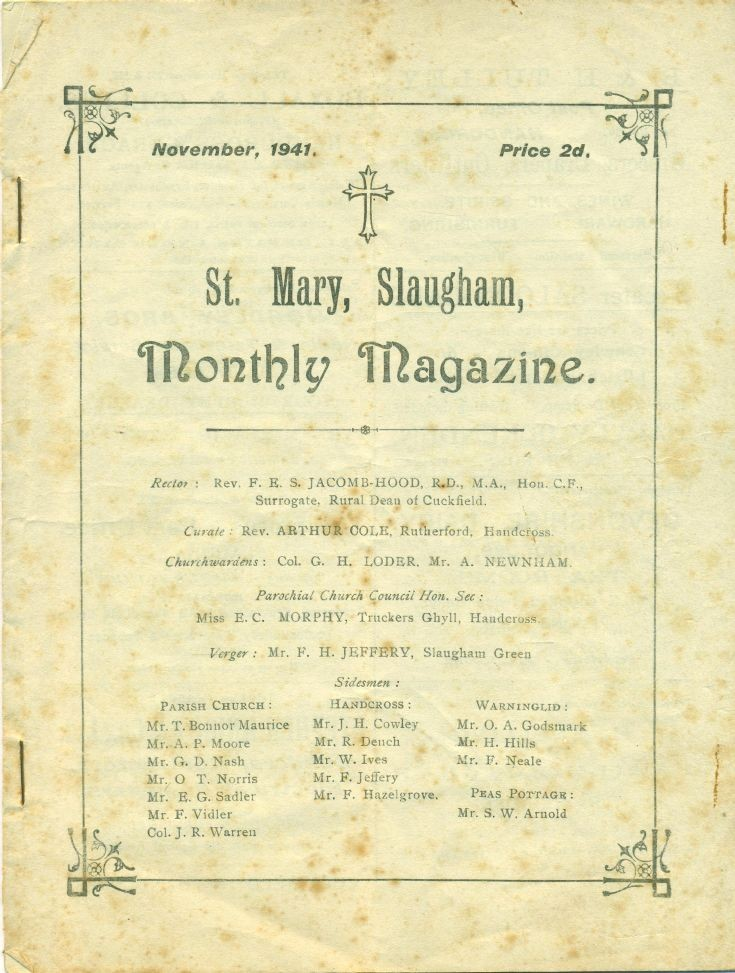 St Mary's Slaugham monthly magazine
