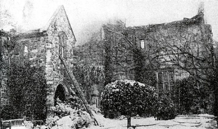 The disastrous fire of Nymans house