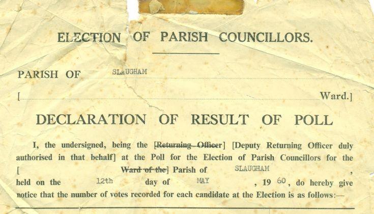Slaugham Parish Council matters 1960-1972