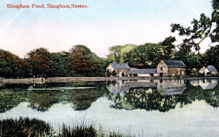 Mill Pond at Slaugham in colour