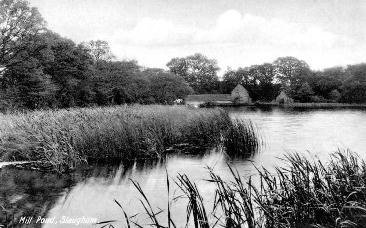 Mill Pond at Slaugham with Mill Hill Farm