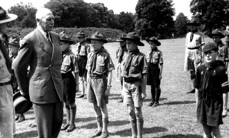 Scouts at British Legion fete