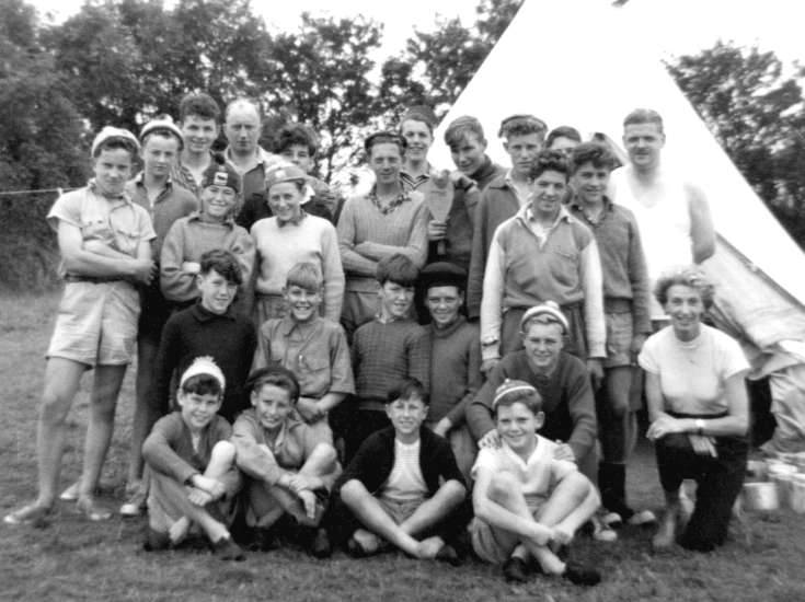 Scout camp at Branscombe, Devon
