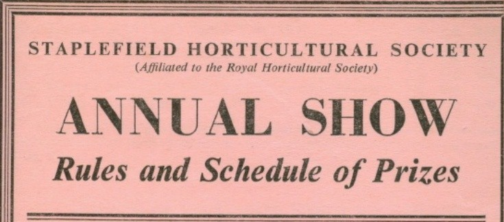 Staplefield Horticultural Show 1961