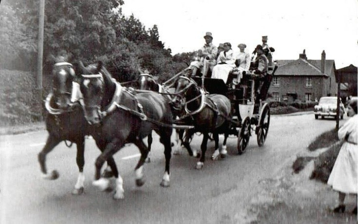 Stagecoach arriving in Handcross