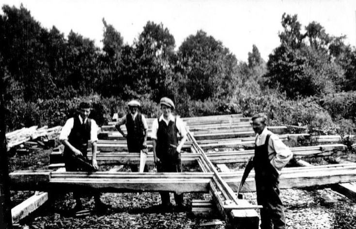 Building works at Nymans following the 1947 fire