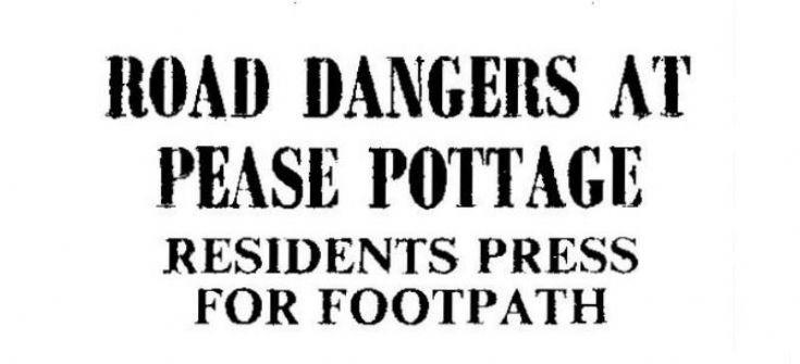 Perilous potholes in Pease Pottage