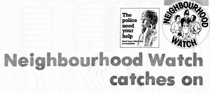 Neighbourhood Watch introduced locally