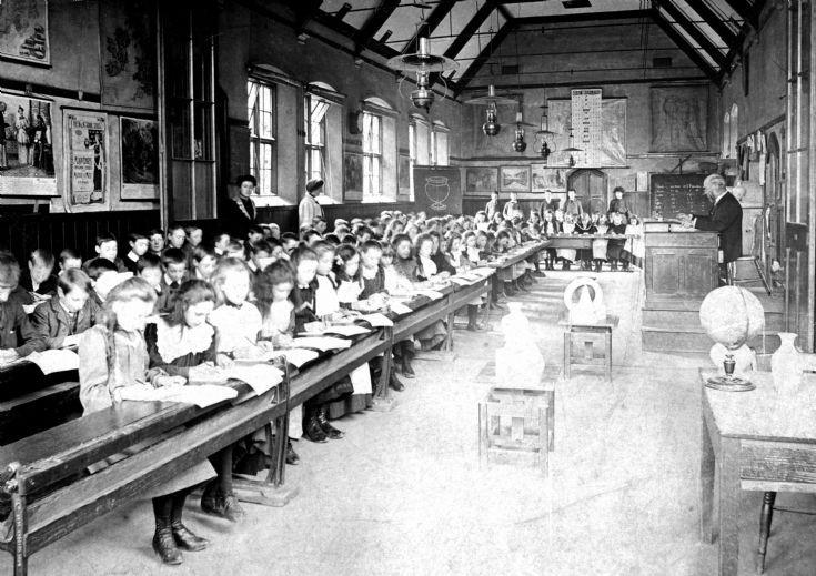 Handcross School early interior photograph