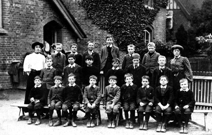 Handcross School 1908 (1 of 3) Boys